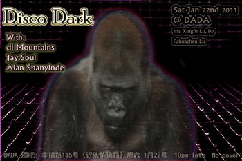 Flyer Disco Dark @ Dada Shanghai 22 January 2011