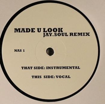 "Nas - Made U Look (Jay.Soul Remix) 12"" vinyl label"
